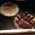 Here is my pies side by side ready for the party!!